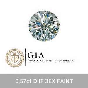 GIA 0.57ct D IF 3EX FAINT