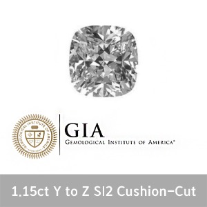 GIA 1 15ct Y TO Z SI2 VV Cushion-Cut