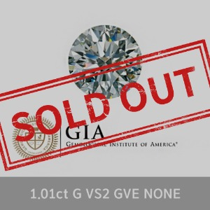 GIA 1.01ct G VS2 GVE NONE